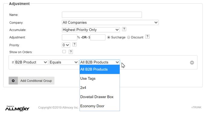 B2B Price Adjustments
